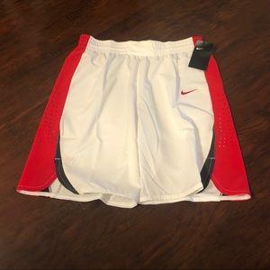 Nike Women's Shorts Red/White Size Large